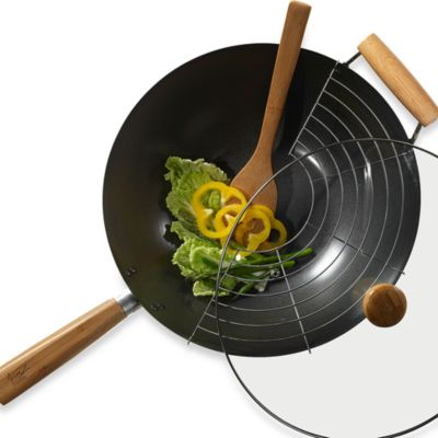 Asian Fusion 4-Piece Non-Stick Wok Set
