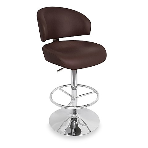 LumiSource Regent Barstool in Dark Brown