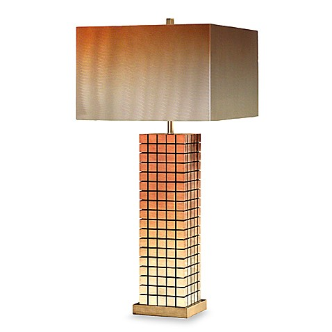 Bronze Grid Table Lamp