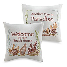 Seashell Embroidered Toss Pillows