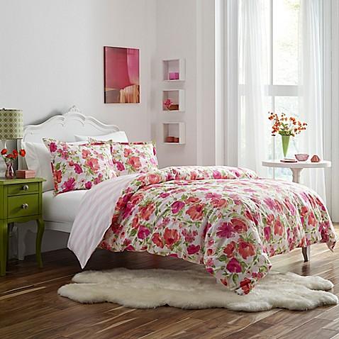 Poppy & Fritz® Buffy Full/Queen Comforter Set in Medium Pink