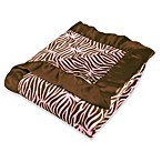 Sweet Safari Zebra Blanket in Pink