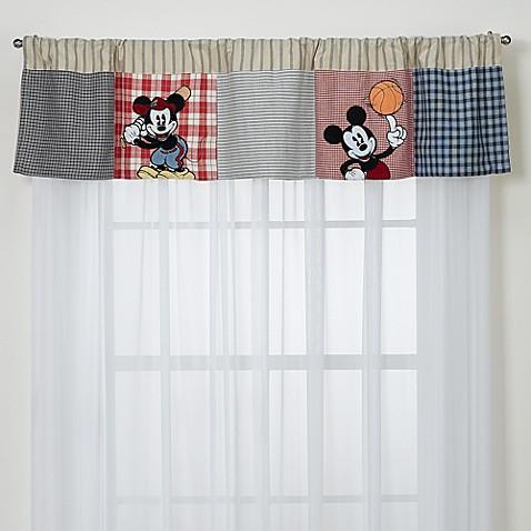 Vintage Mickey Mouse Valance, 100% Cotton