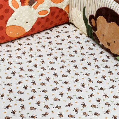kidsline™ Jungle 1,2,3 Fitted 100% Cotton Crib Sheet