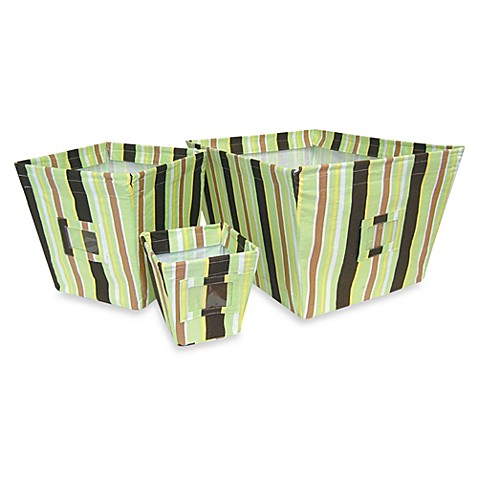 Giggles Stripes 3 Storage Bin Set