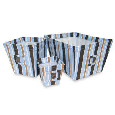 Striped Storage Bin Set