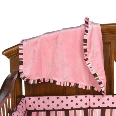 Maya Stripe Ruffle Blanket