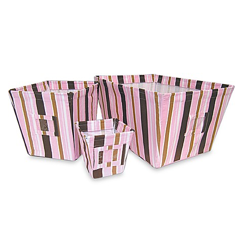Maya Stripe 3 Storage Bin Set