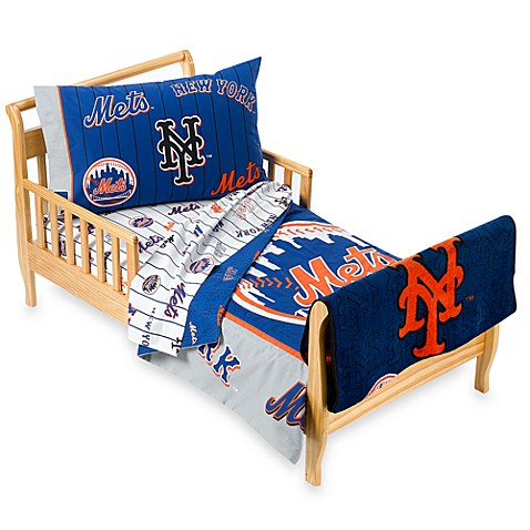 New York Mets 4 Piece Toddler Bedding And Blanket By The