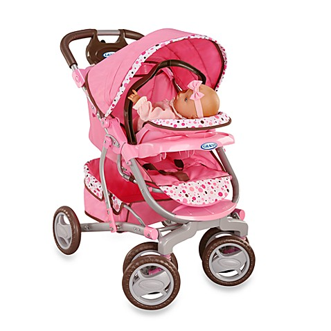 Pink And Brown Travel System