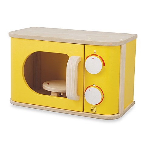 Plan Toys® Yellow Microwave Play Set