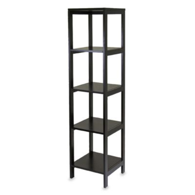 Bedford 5-Shelf Espresso Bookcase