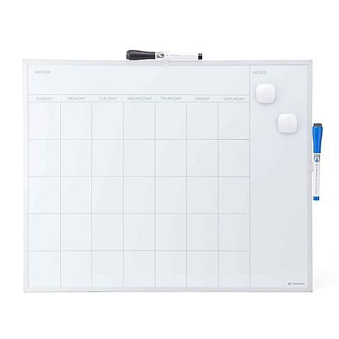 Magnetic 16-Inch x 20-Inch Framed Dry Erase Calendar Board