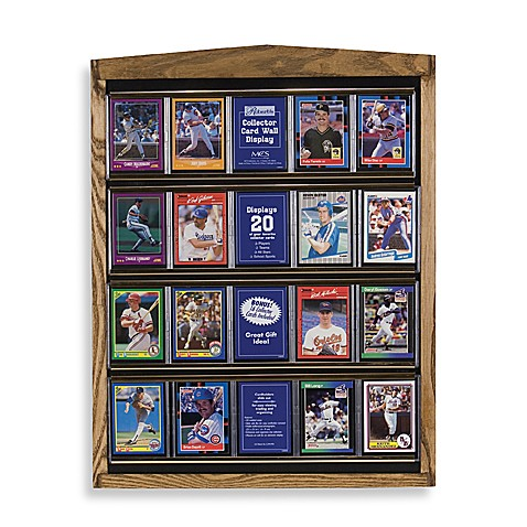 Collector Card Oak Wall Display