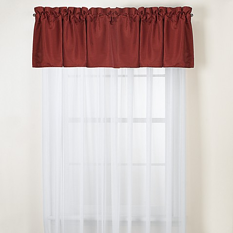 Oxford Red Valance