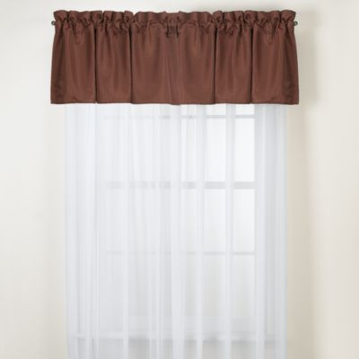 Oxford Chocolate Valance