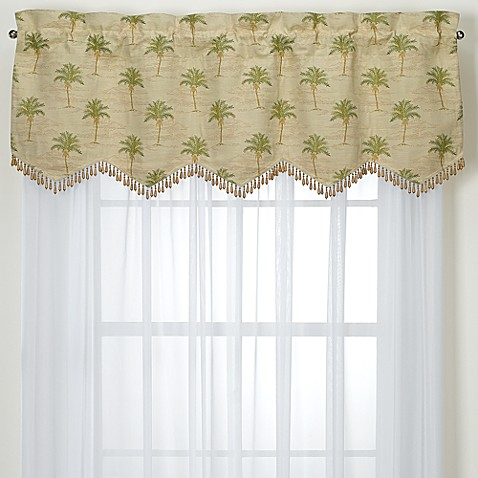 South Beach Palm Valance