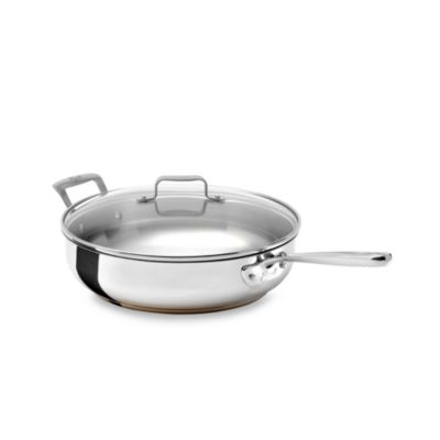 Emerilware Stainless Steel 5-Quart Saute Pan with Lid