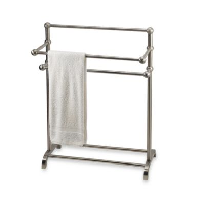 3-Tier Satin Nickel Towel Stand