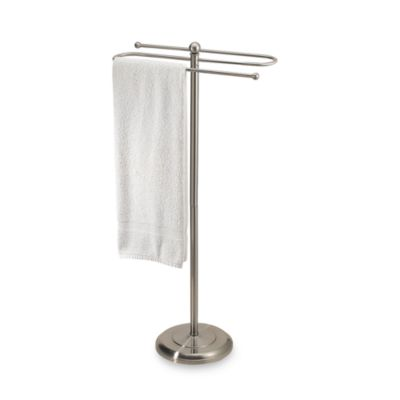 2-Tier Satin Nickel Towel Stand