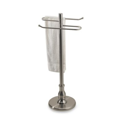 Grand Collection Satin Nickel Swiveling Towel Valet