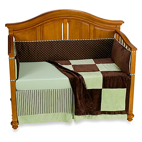 Kathy Ireland Home Chocolate Mint 4 Piece Infant Bedding Set Bed Bath Beyond