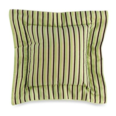 Kathy Ireland Home Chocolate Mint 16-Inch Square Chamber Pillow