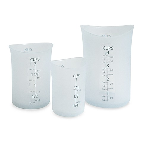 Flex-It® 3-Piece Beaker Measuring Cup Set