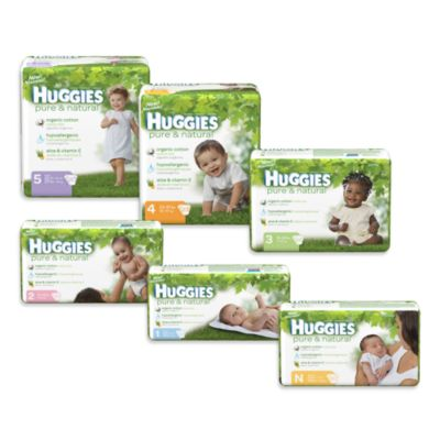 Huggies® Pure & Natural Stage 2 30-Count Jumbo Pack Disposable Diapers