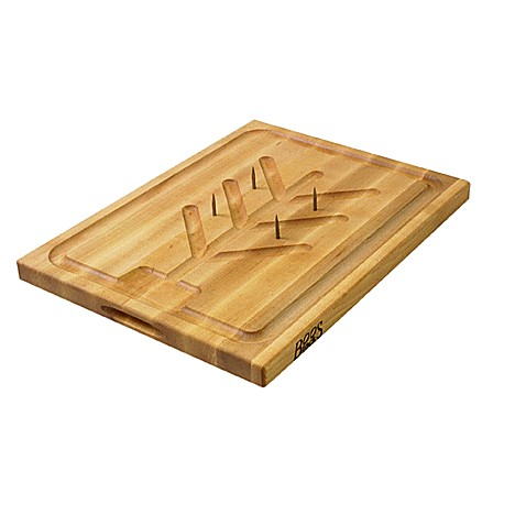 John Boos Reversible 20-Inch x 15-Inch Cutting Board with Pins