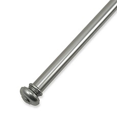 Hudson Antique Silver Drapery Rod