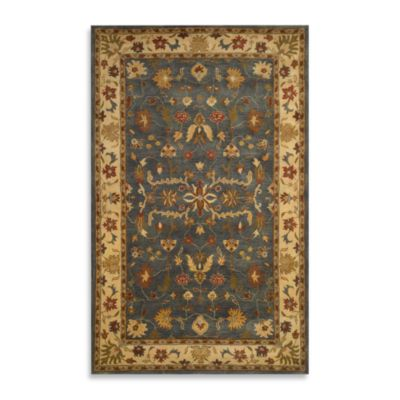 Petra Oushak Blue Room Size Rug - 8-Foot x 10-Foot