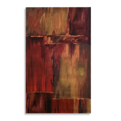 Inspirations Brushstrokes Rug in Burgundy