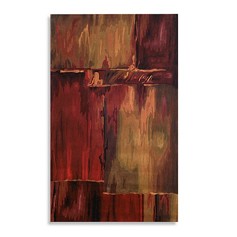 "Inspirations Brushstrokes Burgundy 24"" x 36"" Accent Rug"