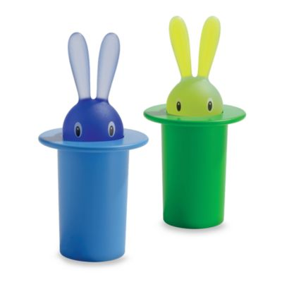 Alessi Rabbit in Hat Toothpick Holder in Blue