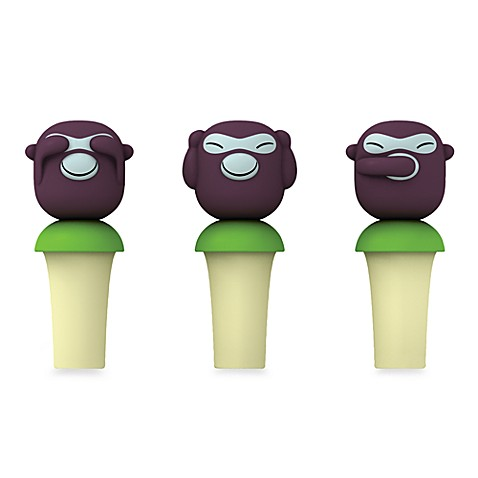 Alessi Banana Kids Wine Stoppers (Set of 3)