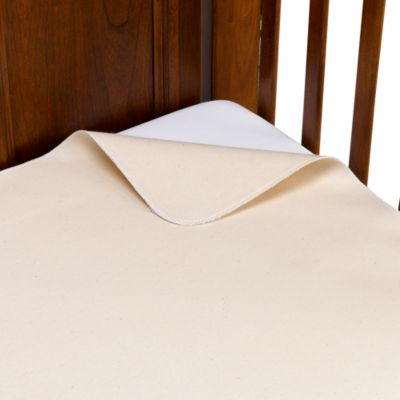 Organic Waterproof Flat Crib Pad Cover