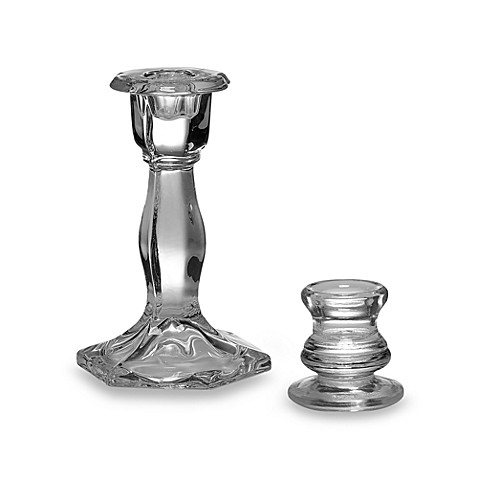 2-Inch Glass Taper Candle Holder