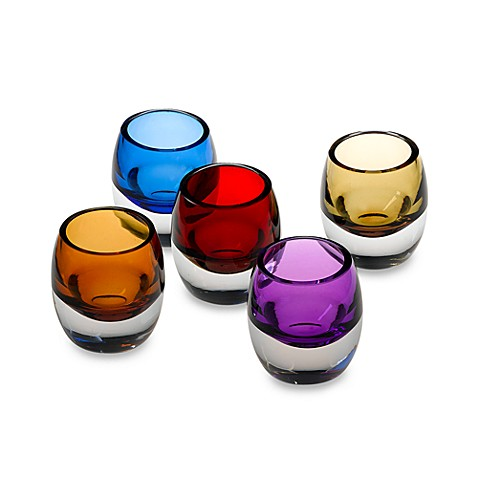 "3"" Color Glass Votive Holder - Purple"