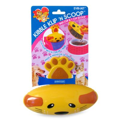 Kibble Klip Pet Food Scoop and Bag Clip