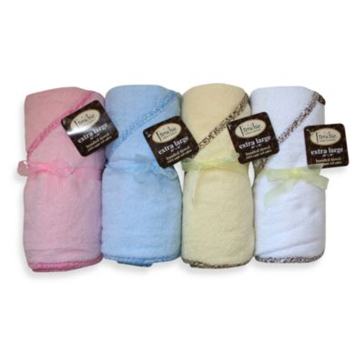 Frenchie Mini Couture Extra Large Absorbent 40 in. x 30 in. Towel with Lined Hood