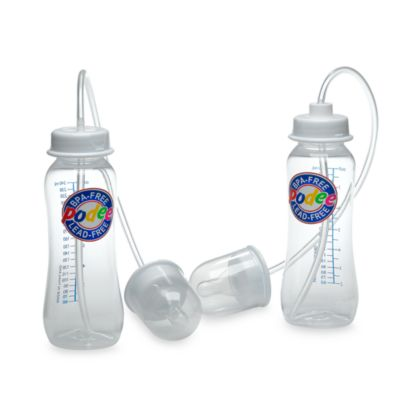 Podee® Hands Free 2-Pack Baby Bottle System