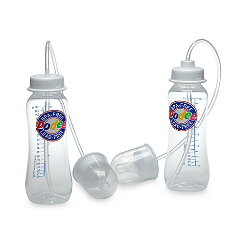 Podee® Hands Free 2-Pack 8 oz. Baby Bottle System