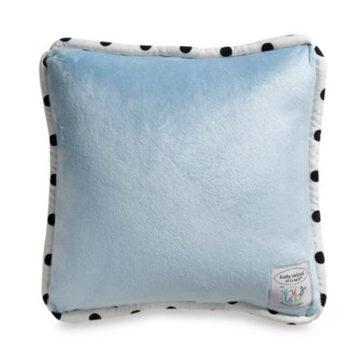 Kathy Ireland Home Opposites Blue 12-Inch Square Toss Pillow by Thank You Baby