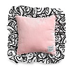 Kathy Ireland Home Opposites Pink 14-Inch Swirl Toss Pillow by Thank You Baby