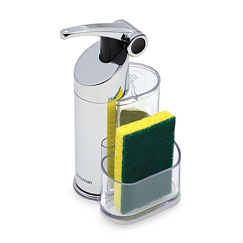 Simplehuman precision soap pump with caddy bed bath beyond - Soap pump caddy ...