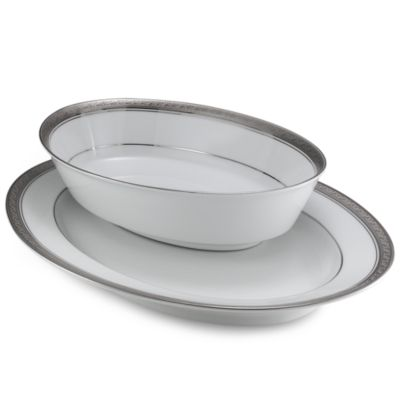 Noritake® Crestwood Platinum 32-Ounce Vegetable Bowl