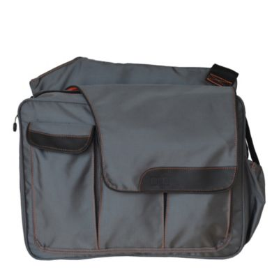 Diaper Dude® Messenger II Diaper Bag in Grey