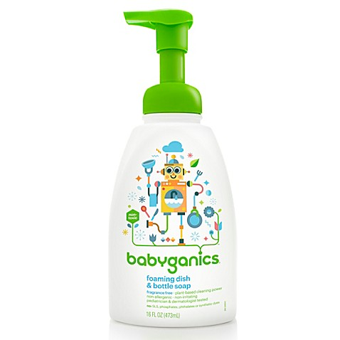 BabyGanics® Fragrance Free 18.6-Ounce Dish Soap