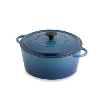 Fontignac Round 5-Quart Casserole in Blue